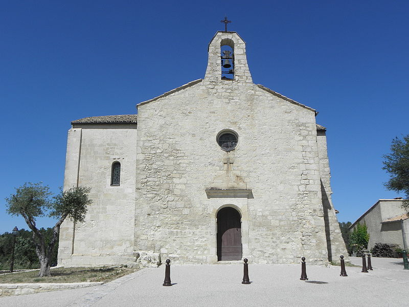 Église de Saint-Vincent-de-Barbeyrargues (34). Façade occidentale.