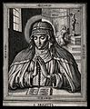 Saint Bridget of Sweden. Line engraving. Wellcome V0031747.jpg