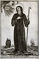 Saint Francis of Paula holding a walking stick and looking Wellcome V0031963.jpg