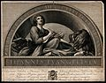 Saint John the Evangelist. Line engraving by F. Rosaspina af Wellcome V0032402.jpg