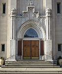Saint Julie Billiart Catholic Church (Hamilton, OH) - Gothic porch.jpg