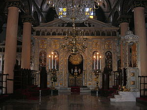 Church of St. Mary of the Spring (Istanbul) - The Interior of the church