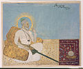 Saint Shah Raju seated against a bolster (6125049392).jpg