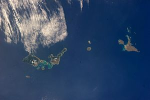 Sakishima Islands - View of the Sakishima Islands from the ISS