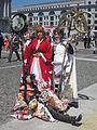 Sakura, Syaoran, Yuko Ichihara cosplayers at NCCBF 2010-04-18 1.JPG