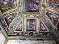 Sala di cosimo il vecchio, soffitto, afferschi di vasari e marco marchetti 07.JPG