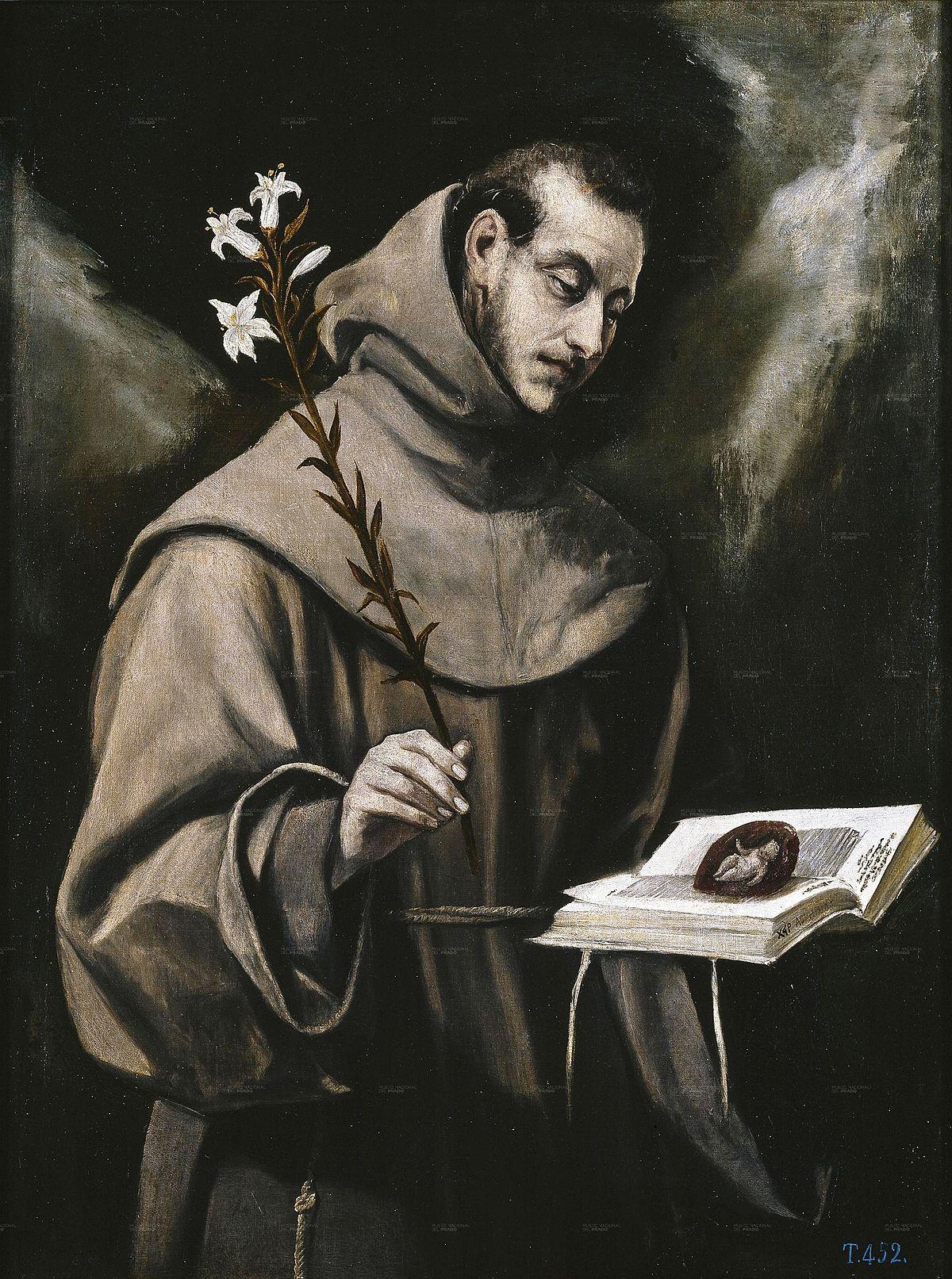 San Antonio de Padua (El Greco) - Wikipedia, la