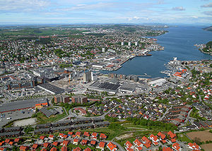 Sandnes - View of the city centre