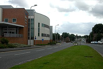 Sandwell General Hospital - The hospital's All Saints Way frontage, seen in 2009
