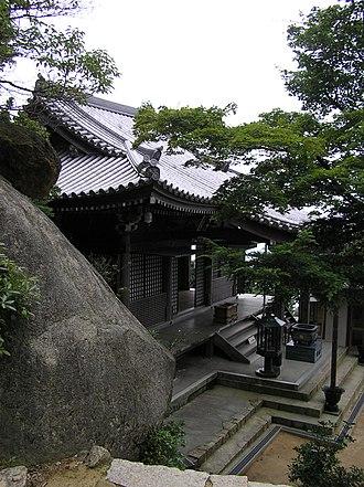 Mount Misen - Sanki-gongen-dō temple near the summit of Mount Misen