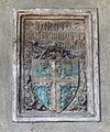 Santa croce, loggiato sud, stemma biliotti.JPG