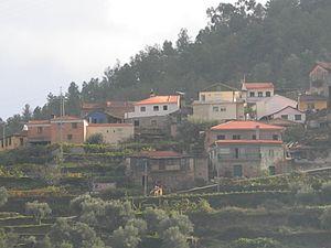 Armamar - A portion of the village of Santo Adrião