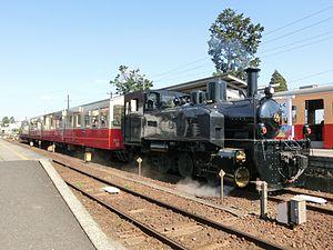 Kominato Line - Diesel locomotive DB4 on the Satoyama Torokko in April 2017