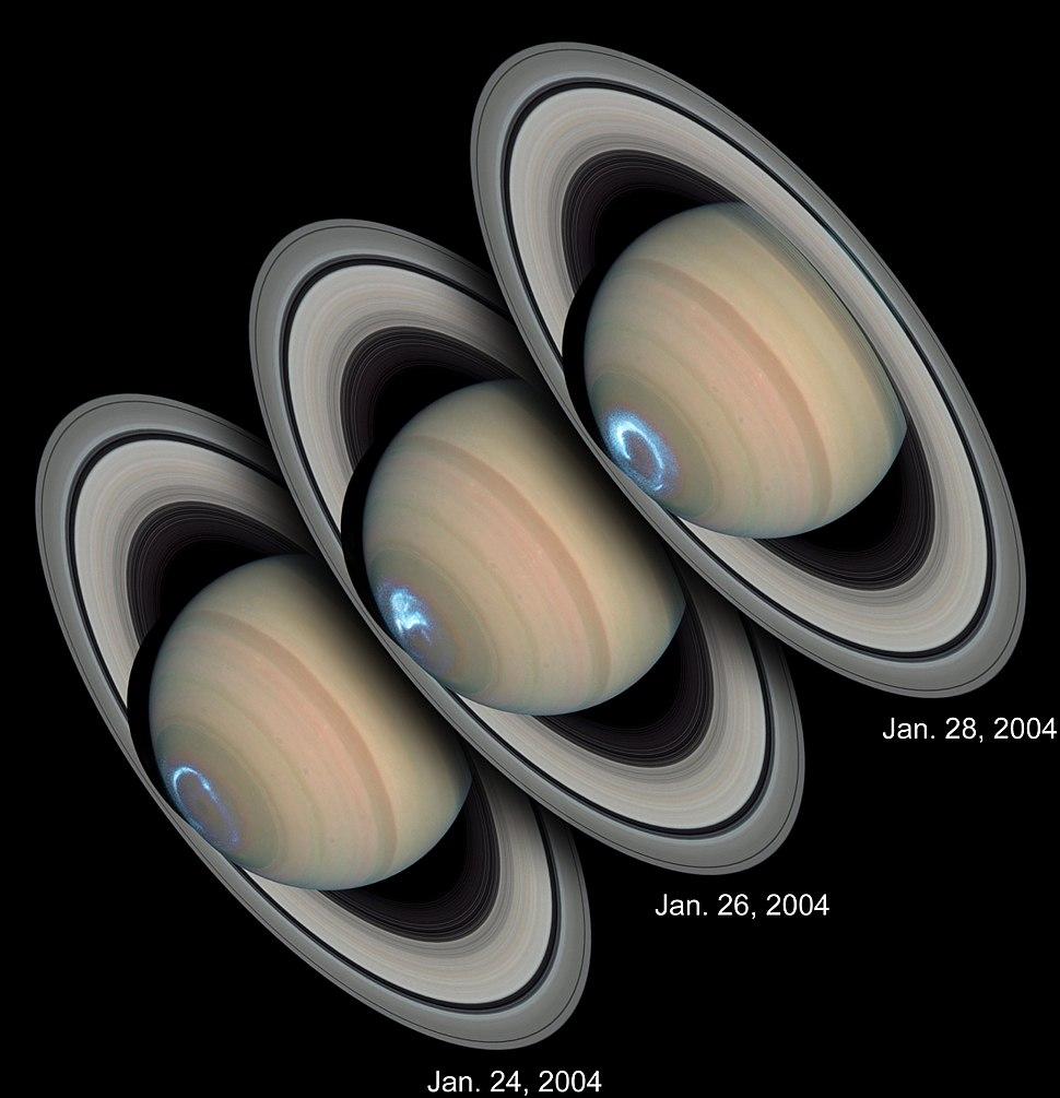 Saturn.Aurora.HST.UV-Vis
