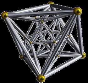 Diagramme de Schlegel(sommets et arêtes)