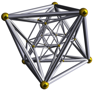 24-cell honeycomb - Image: Schlegel wireframe 24 cell