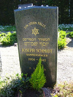 Joseph Schmidt - Joseph Schmidt's grave in the Wiedikon district of Zürich.