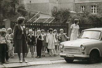 Education in East Germany - beginning of school in the GDR, 1980