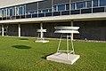Schwingungen - Schwebungen, Edwin van der Heide, University Library in Bonn, circular horns.jpg