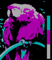 Screen color test CGA 4colors Mode4 Palette1 LowIntensity.png