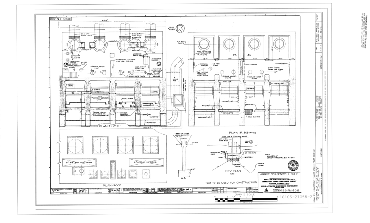 Filescreenwell Arrangement Haddam Neck Nuclear Power Plant Circuit Diagram Screenwell House 362 Injun Hollow Road Middlesex County Ct Haer 185 A Sheet 2