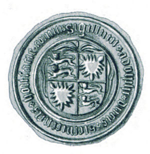 Adolphus VIII, Count of Holstein - Seal of Adolf VIII dating from around 1447