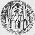 Seal of Riga chapter of priests 1360.jpg