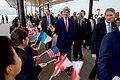 Secretary Kerry Greets School Children Upon Arrival to the Miyajima Island (26344532615).jpg