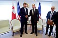 Secretary Kerry Shakes Hands with Georgian Foreign Minister Janelidze at the Chancellery in Tbilisi (28049085471).jpg
