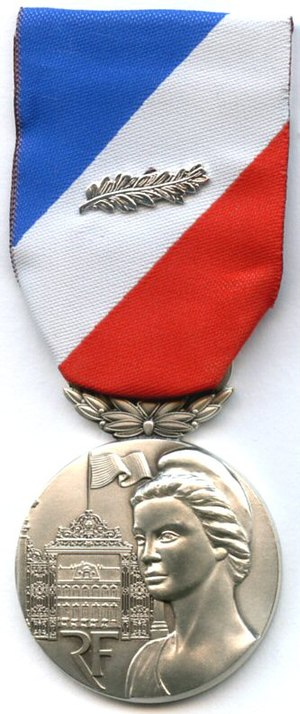 Medal for internal security - Image: Securite interieure argent