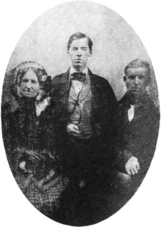 William E. Chandler - A young William E. Chandler with his parents, Nathan S. Chandler and Mary Chandler