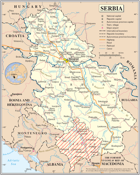 Archivo:Serbia DisputedKosovo Map.png
