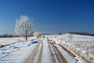 Geography of Lithuania - Winter landscape in Lithuania