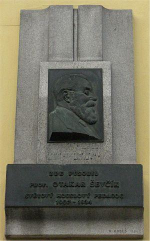Otakar Ševčík - Otakar Ševčík sculpture in Písek