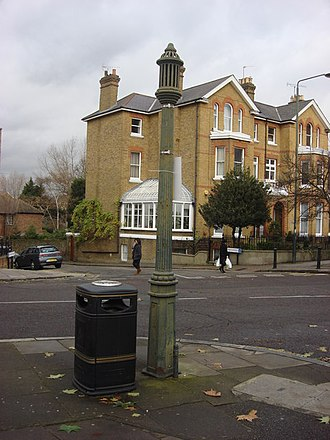 Kew Green - A sewer ventilation pipe in Richmond, identical to the listed one on Kew Green