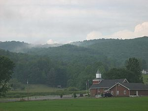 Appalachian bogs - Shady Valley, a town and mountain valley in Tennessee