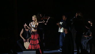 """Gypsy (Shakira song) - Shakira performing """"Gypsy"""" in Punta del Este, on The Sun Comes Out World Tour"""