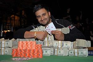 English: Shankar Pillai after winning the $300...
