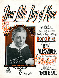 <i>Boy of Mine</i> 1923 film by William Beaudine