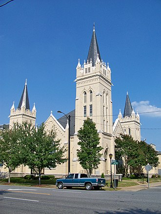 Central Shelby Historic District - Image: Shelby First Baptist Church