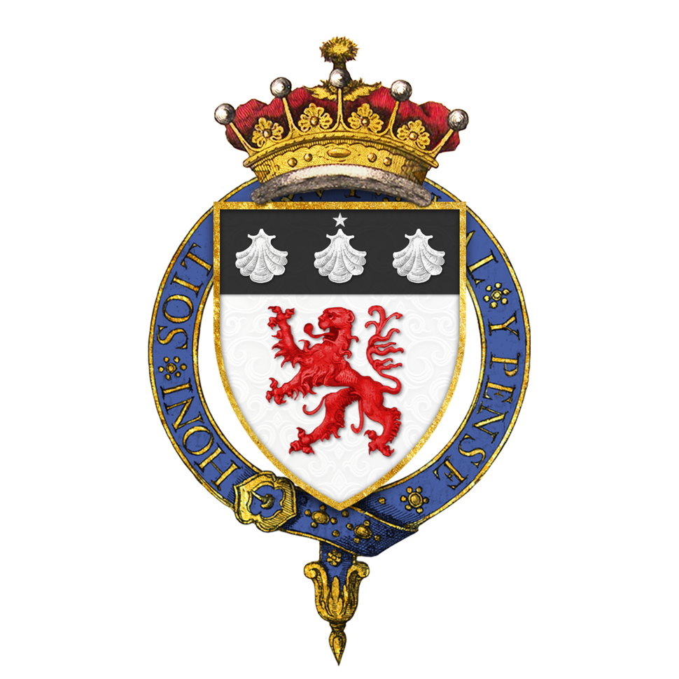Shield of arms of John Russell, 1st Earl Russell, KG, GCMG, PC, FRS
