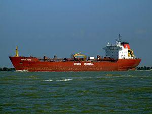 Sichem Arctic p5 leaving Port of Rotterdam, Holland 08-Mar-2007.jpg