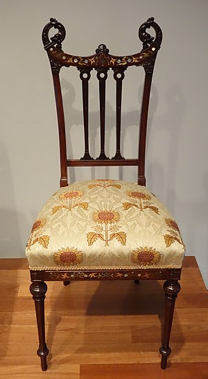 Herts Brothers - Side chair, attributed to Herts Brothers, New York, c. 1885-1890