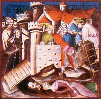 Siege of Acre (1291) - Medieval rendering of the 1291 Siege of Acre