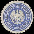 Siegelmarke Amtsbezirk XII Wapelfeld Kreis Rendsburg W0360485.jpg