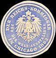 Siegelmarke Der Reichs - Kommissar für die Welt - Ausstellung in Chicago 1893 W0219950.jpg