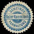 Siegelmarke Gemeinde Verwaltung Unter-Kammlach W0385244.jpg