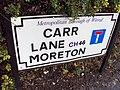Sign, Carr Lane, Moreton.JPG
