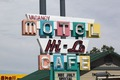 Sign for Motel and Cafe Hi-Lo in Northern California LCCN2013633486.tif
