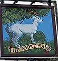 Sign for the White Hart - geograph.org.uk - 1531991.jpg